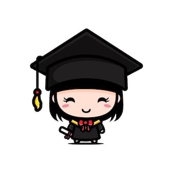 Słodkie kawalerka w dniu ukończenia szkoły