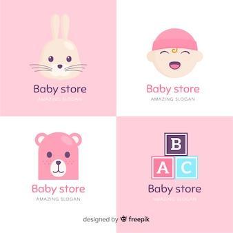 Słodkie logo dla niemowląt