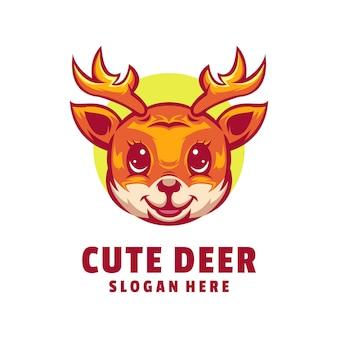 Słodkie logo jelenia