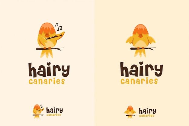Słodkie logo kanarka