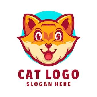 Słodkie logo kota