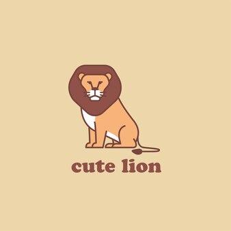 Słodkie logo lwa