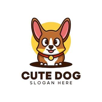 Słodkie logo psa