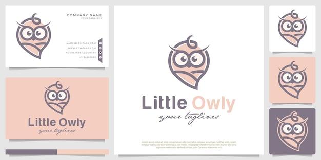 Słodkie logo sowy dla dzieci