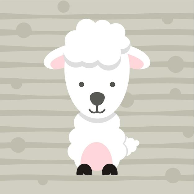 Słodkie małe owce miękkie kolor dzieci t shirt design