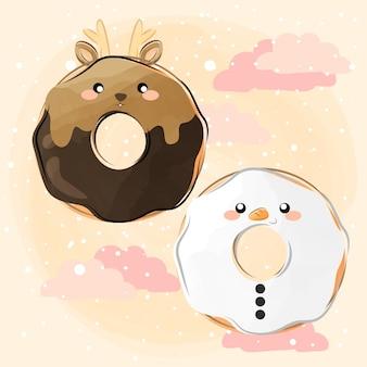Słodkie małe pączki świąteczne