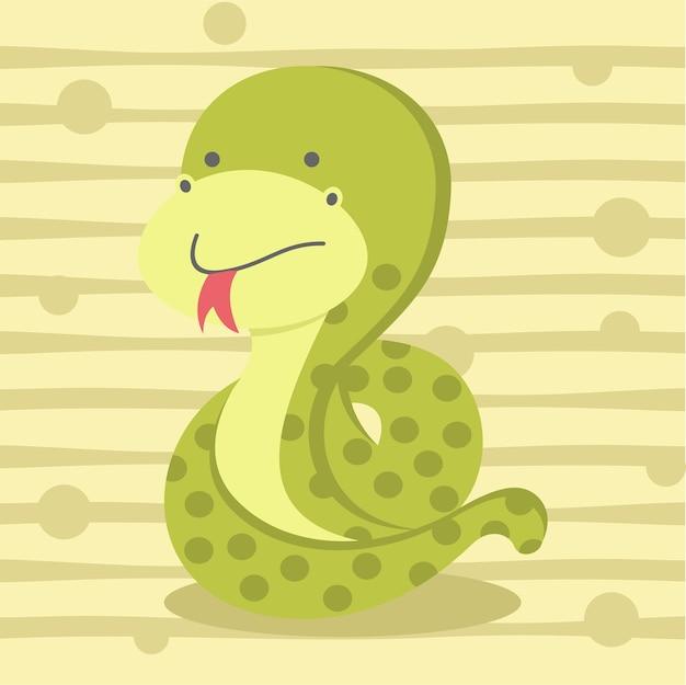 Słodkie małe wąż miękki kolor dzieci t shirt design