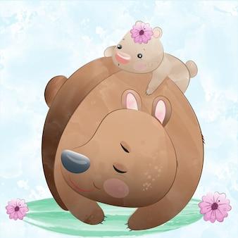 Słodkie niedźwiedzie ilustracji