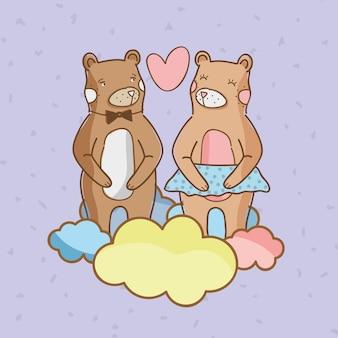 Słodkie niedźwiedzie w miłości