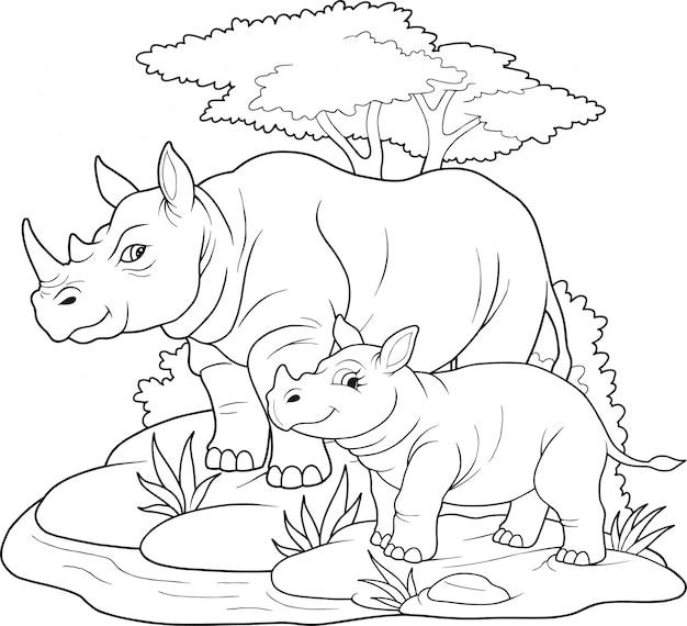 Słodkie nosorożce