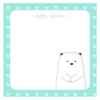 Słodkie notatki z słodki miś kreskówka ręcznie rysowane stylu