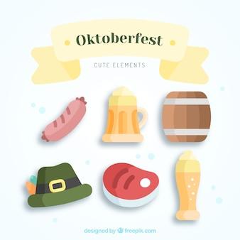 Słodkie opakowanie elementów oktoberfest