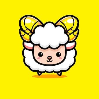 Słodkie owce ze złotymi rogami