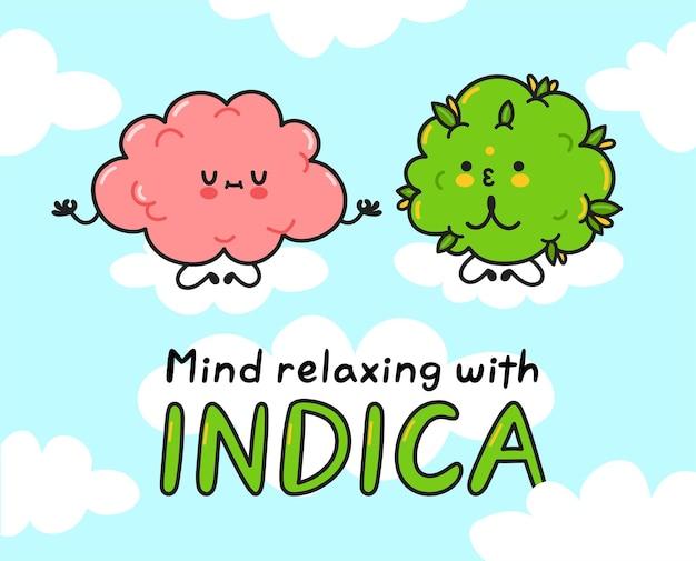 Słodkie pąki marihuany medytują mózgiem
