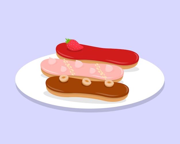 Słodkie parzenie ciasta ilustracja kreskówka wektor