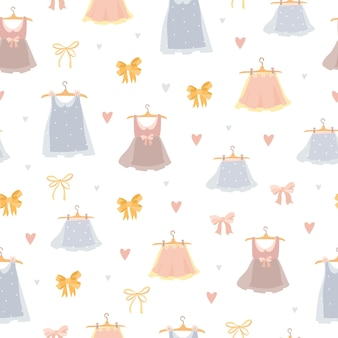 Słodkie pastelowe sukienki wzór