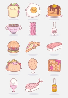 Słodkie postacie z jedzenia