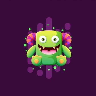 Słodkie potwory ilustracja