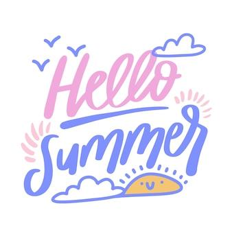 Słodkie powitanie lato napis