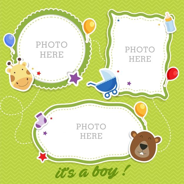 Słodkie ramki do zdjęć dla dzieci