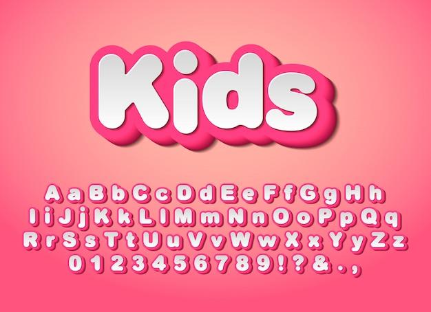 Słodkie różowe litery.
