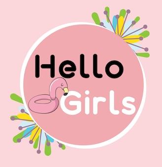 Słodkie różowe logo