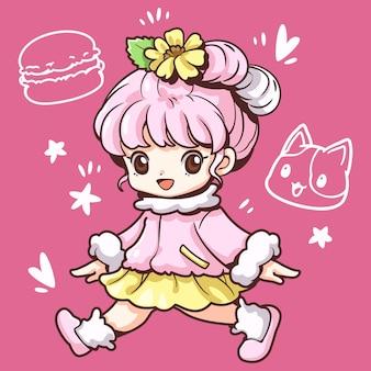 Słodkie słodkie dziewczyny makaronik