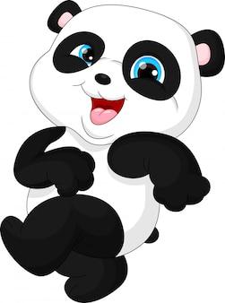 Słodkie śmieszne dziecko panda