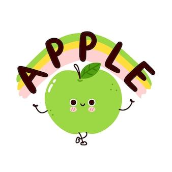 Słodkie śmieszne jabłko