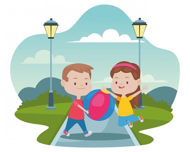 Słodkie szczęśliwe dzieci zabawne bajki