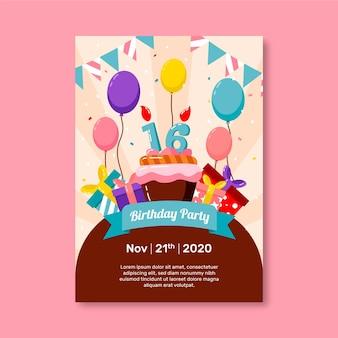 Słodkie szesnaście urodziny zaproszenie