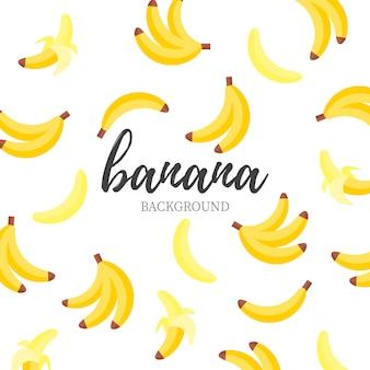 Słodkie tło bananowe