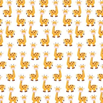 Słodkie tło żyrafy na plakat lub ulotkę z okazji światowego dnia zwierząt