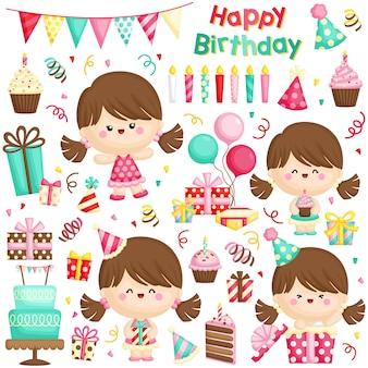 Słodkie urodziny dziewczyny