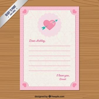 Słodkie walentynki list
