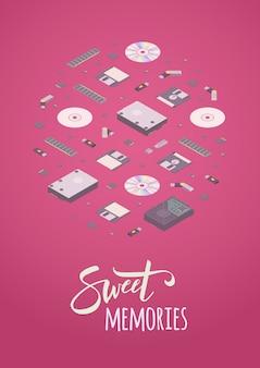 Słodkie wspomnienia zdobiące design