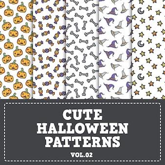 Słodkie wzory halloween