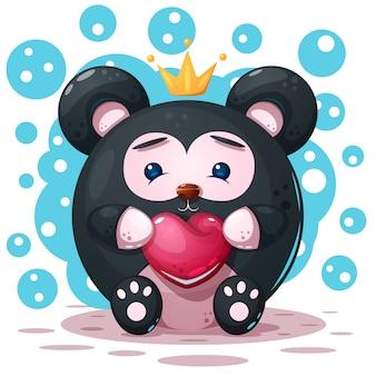 Słodkie, zabawne - postać z pandy kreskówki