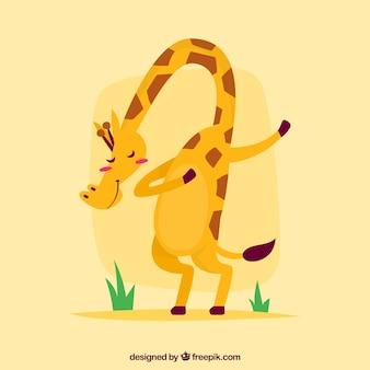 Słodkie zwierzę robi dabbing