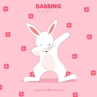 Słodkie zwierzę robi ruch dabbing