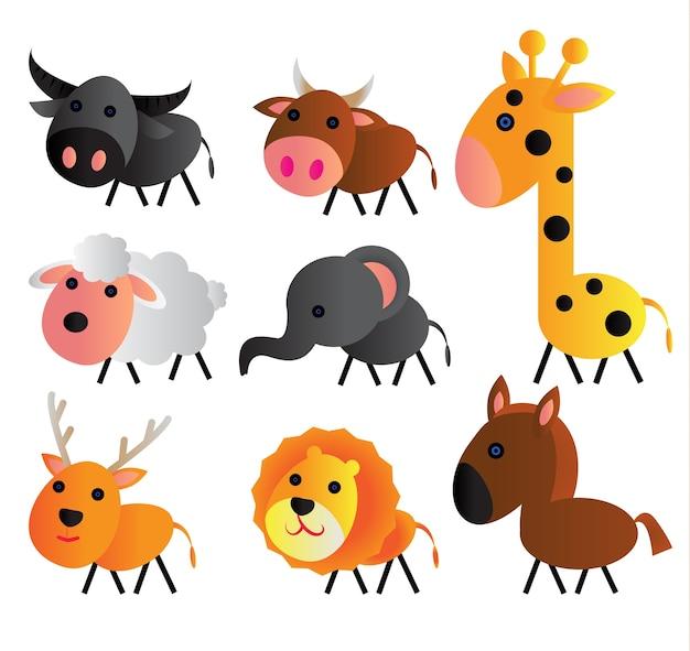 Słodkie zwierzęce kreskówki