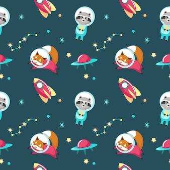 Słodkie zwierzęta w kosmosie bez szwu