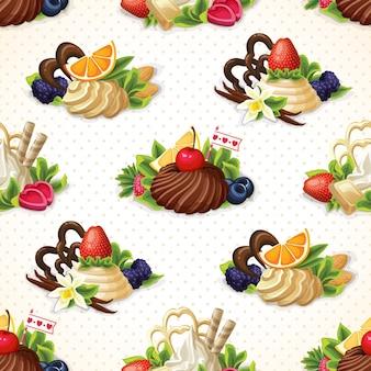 Słodycze bez szwu tła