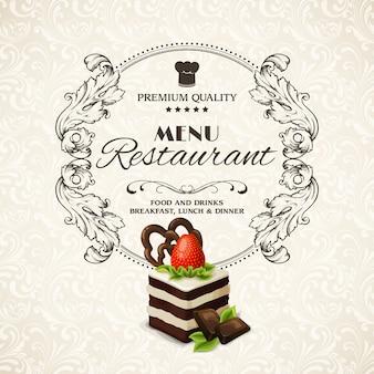 Słodycze deserowe menu restauracji
