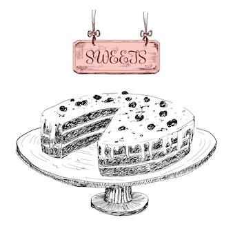 Słodycze. rysunek deser
