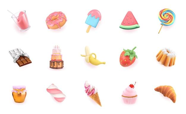 Słodycze zestaw 3d