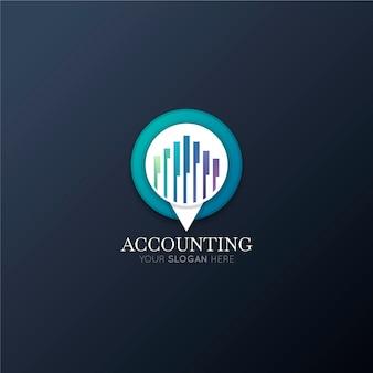 Slogan logo rachunkowości gradientu