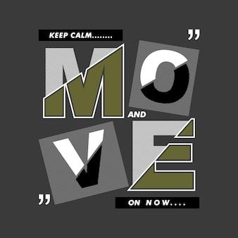 Slogan młode życie typograficzne