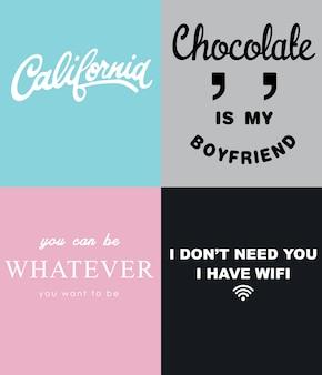 Slogan typograficzny do drukowania t-shirtów