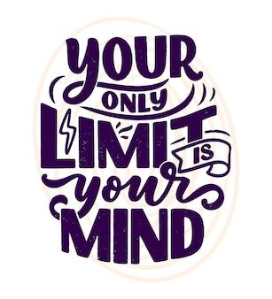 Slogan z napisem bądź sobą.